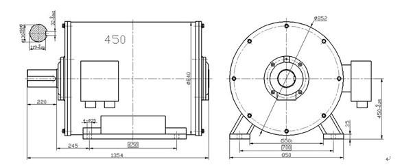 150kw 125rpm permanent magnet hydro turbine generator 50hz
