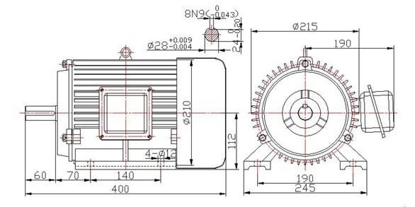 Brushless permanent magnet vehicle motor 3kw 15kw for 3kw brushless dc motor