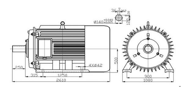 100kw 30rpm Permanent Magnet Generator
