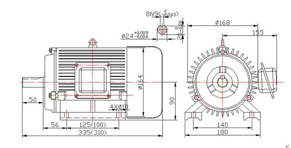 7kw -10kw 10000rpm high speed  magnet electric motor