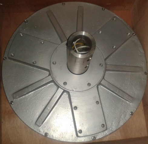 3kw 180rpm axial flux permanent magnet coreless generator for wind